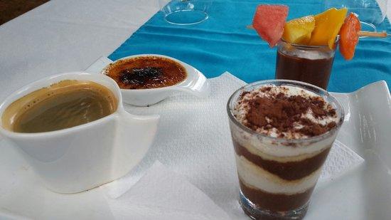 Hotel le Wafou: Bon cafe gourmand...