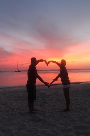 Boardwalk Hotel Aruba: Sunset