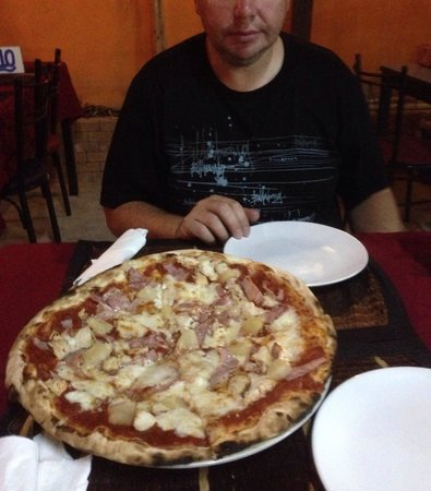 Modena: This pizza was 270 THB and a generous meal for 2 adults. A small bowl of french fries was a 100