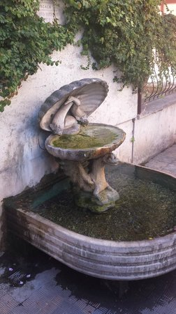 Martini Bed : Another fountain in front of entry