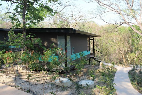 Rio Perdido: Cabin facing wooded area