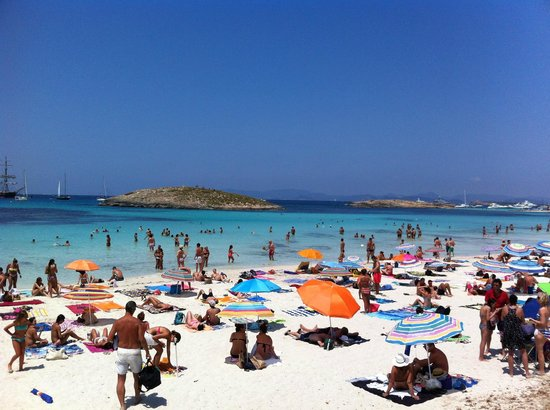 Strand Playa de ses Illetes: luglio 2013