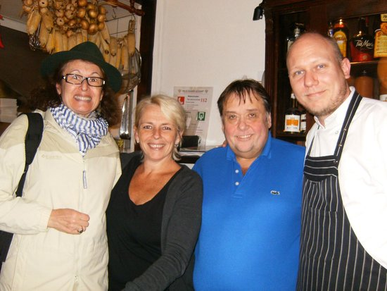 left to right) Mariska (Marishka?), Franz (owner), Roger (My ...