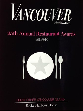 Sooke Harbour House: Awsards 2014 Silver 'Best Others Vancouver Island'
