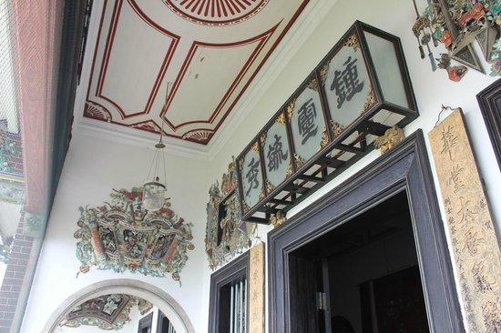Cheong Fatt Tze - The Blue Mansion: 室内の天井
