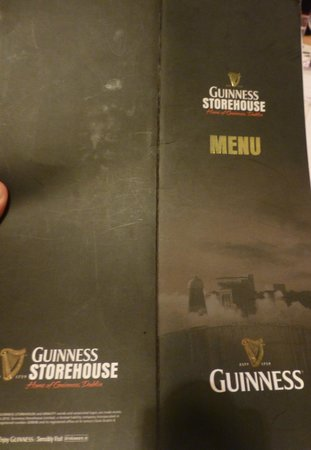 The Brewer's Dining Hall - Guinness Storehouse: Menú