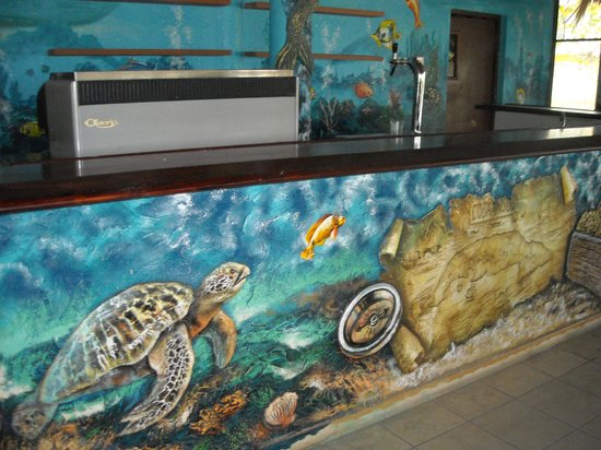 Hotel Playa Coco: Under the sea, at the seafood restaurant