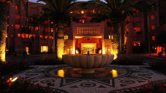 The Ritz-Carlton, Abama: night view of resort entrance