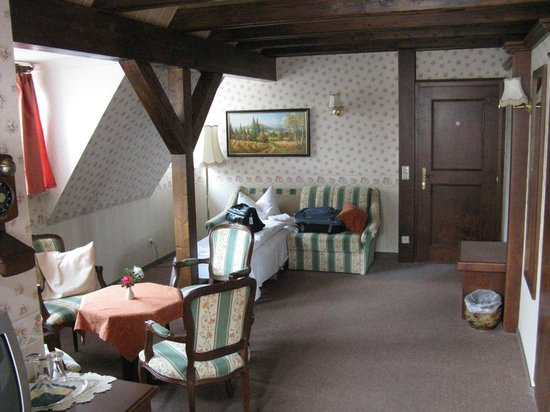 Braugasthof Papiermuhle : suite sofa bed