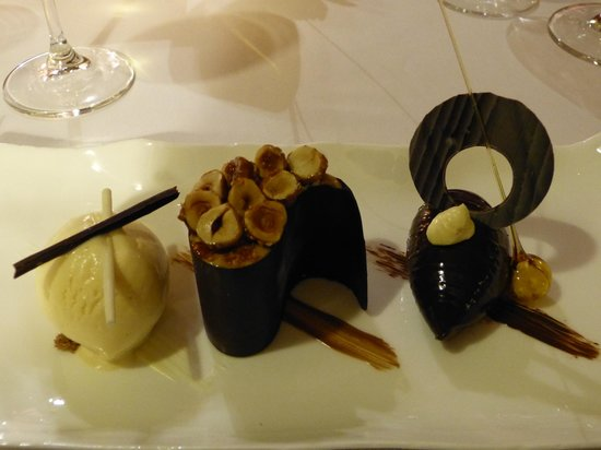Gidleigh Park Hotel: trio of chocolate, exquisite