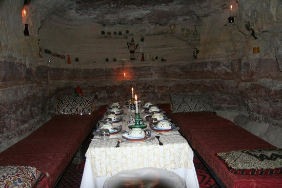 Maison d'hote Hajja : Cena a lume di candela