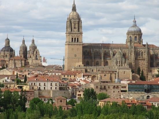 Parador de Salamanca: view of cathedral from hotel bedroom