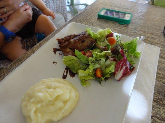 Sardine: Duck confit
