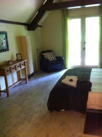 Le Moulin du Porteil: Notre chambre chocolat menthe