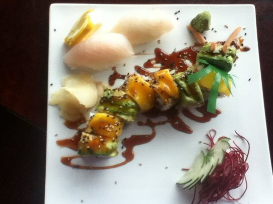 Sushi Taro: My son ordered the Rainbow Dragon Roll and Hirame Sashimi! Melt in the mouth fresh, tender Sushi