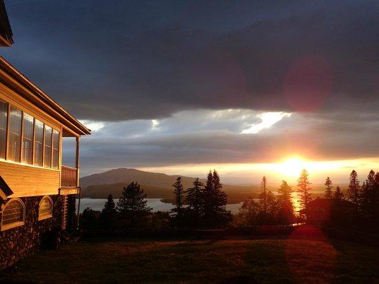 Blair Hill Inn: The setting sun..