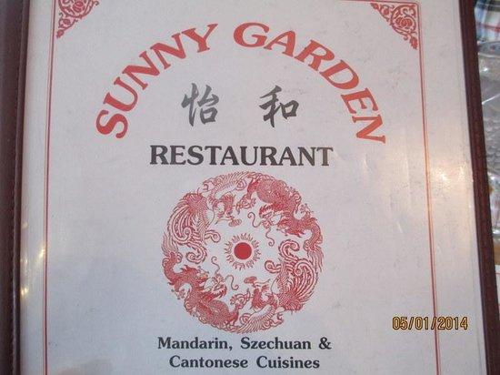 Sunny Garden: Menu Cover