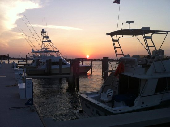 Sailfish Marina & Resort : Sunset from the dock