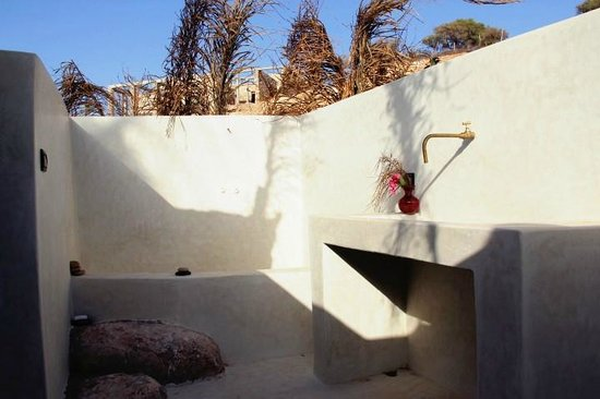 Tafedna, Marrocos: Open air bathroom