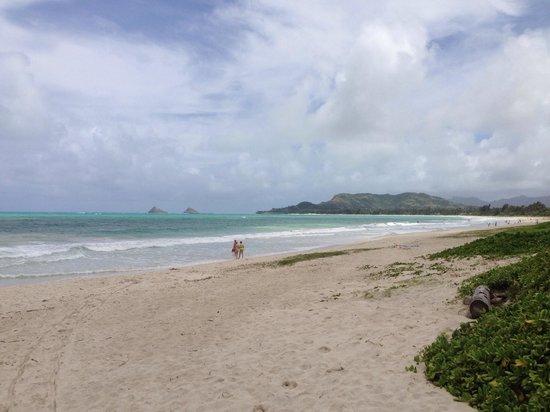 Kailua Beach Park: Kaum jemand hier !