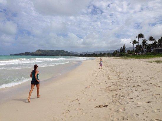 Kailua Beach Park : Kaum jemand hier