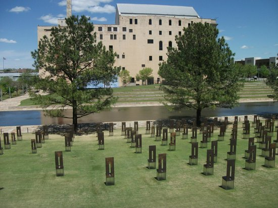 Oklahoma City National Memorial & Museum : Museum with empty chairs in foreground