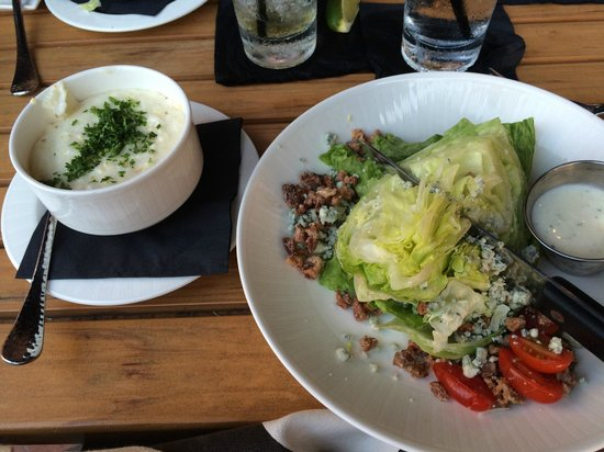 Rocks on the River: Wedge Salad and Cheese Grits