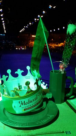 Medieval Times: We were the green knight!!