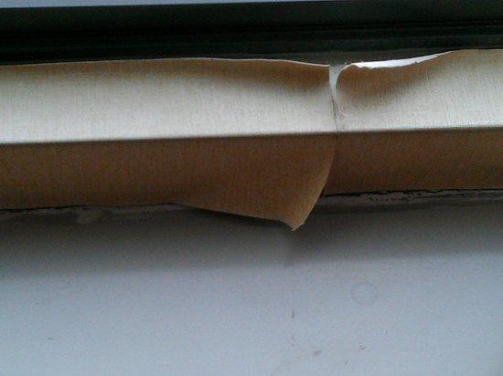 Comfort Inn & Suites: Wall paper under window