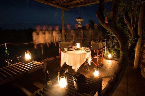 Singita Faru Faru Lodge: A romantic dinner on our personal deck