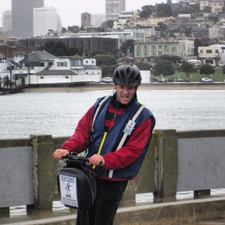 Electric Tour Company Segway Tours : This is my intense face. Not even the rain or wind stopped us from having fun.