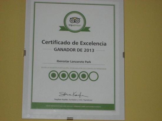 Iberostar Lanzarote Park: appreciation tripadvisor