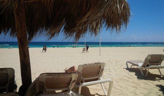 Hard Rock Hotel & Casino Punta Cana: lounging on the beach at Hard Rock