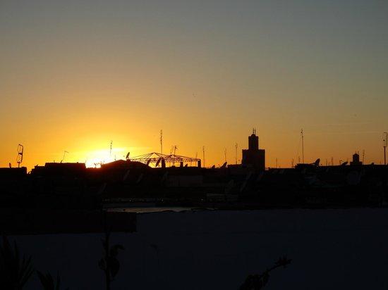 Riad Dar Thalge: Vue de la terrasse du haut
