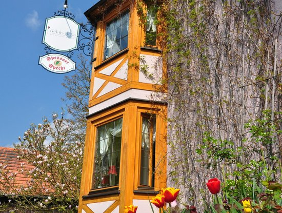Esselbach, Germany: Front of the house in spring