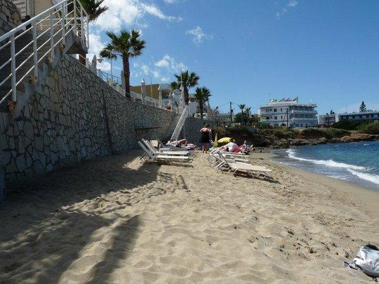 Plage bild von glaros beach hotel chersonissos for Boutique hotel glaros
