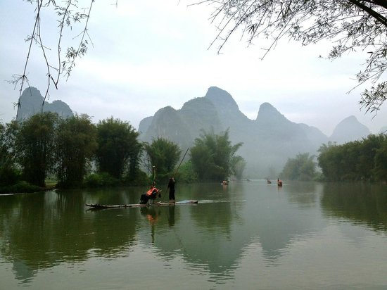 Yangshuo Mountain Retreat : View from Outside Dining Area