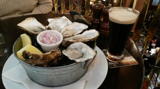 The Bank on College Green: Guinness and oysters