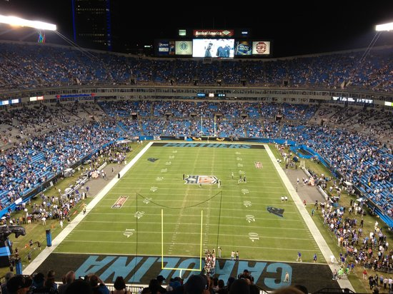 The Bank of America Stadium: BoA at Night