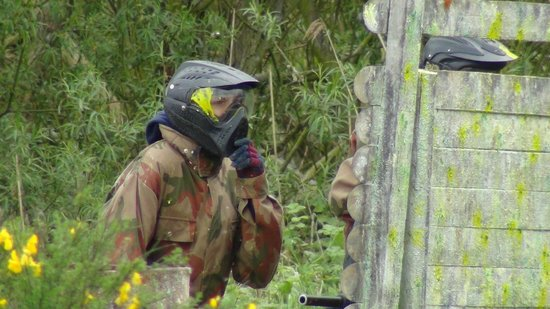 Delta Force Paintball Upminster: The birthday boy, taking one for the team