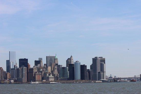 Statue de la liberté : Vista su Manhattan