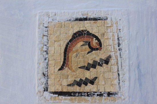 Medina of Hammamet : Detalle Peces fachada