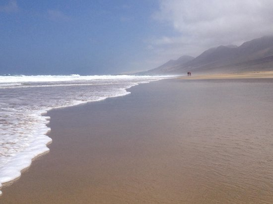 La spiaggia vista dal punto panoramico. - Foto di Playa de Cofete, Morro del ...