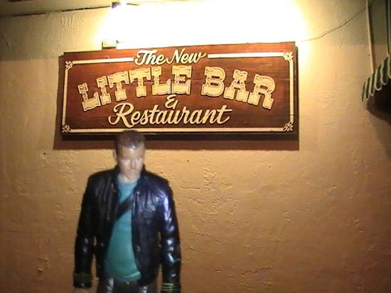 Little Bar Restaurant : Sign outside restaurant