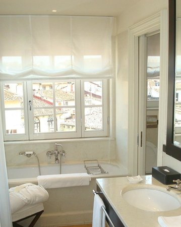 JK Place Firenze: View Looking east from the Penthouse bathroom