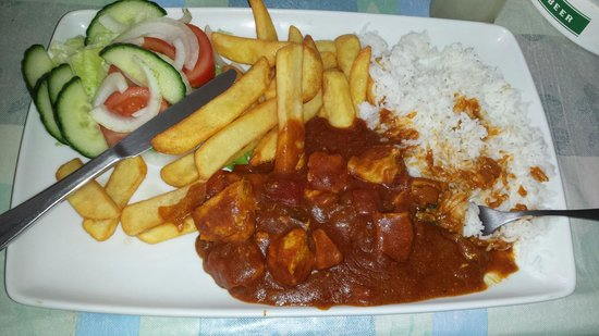 Terrace Bar: Chicken curry. Absolutely gorgeous