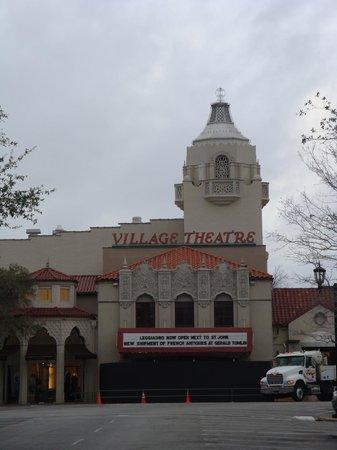Highland Park Village: Village Theater marquee