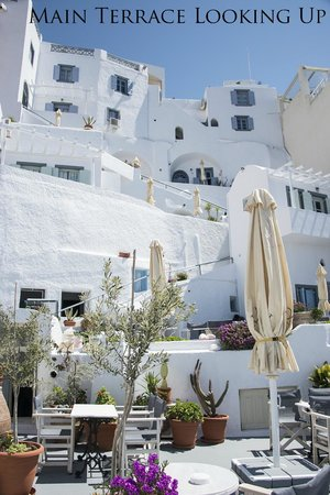 Hotel Kavalari: View from Main Terrace upward to the Pedestrian Street