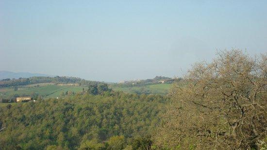 La Chiusa: View of Pienza from our Terrace.