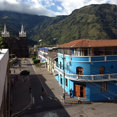 Quito Old Town: In Baños near a hostel we stayed in.